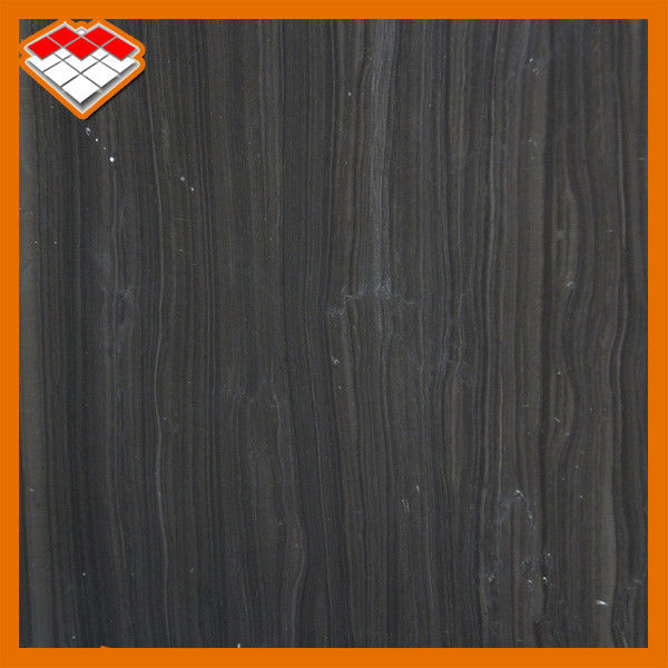 Black Wood Marble Stone Slabs Flooring With 100Mpa Compressive Strength