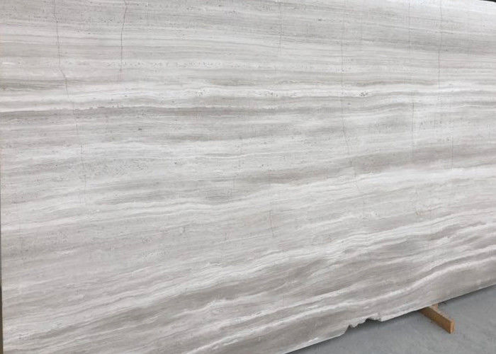 Decorative Athena Grey Marble Tile , Bathroom Wood Look Marble Cut To Size